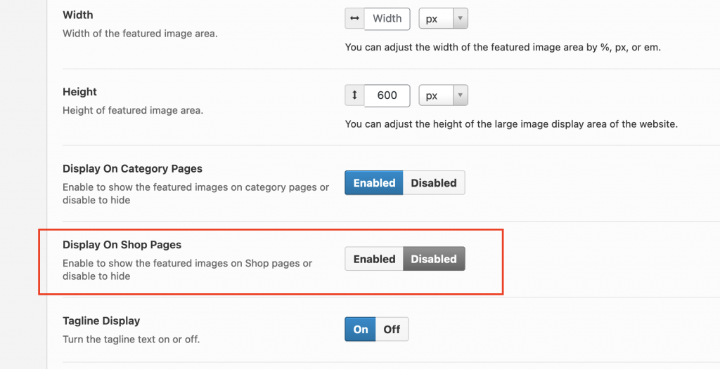 Hide the featured images and text on Woocommerce Shop pages.